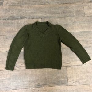 Cute olive V-neck Sweater